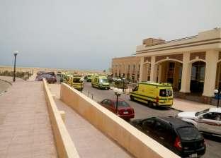 """3 مصابين في حادث تصادم سيارتين بطريق """"مطروح- إسكندرية"""" الساحلي"""