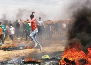 عشرات الفلسطينيون يصابون بالرصاص في مواجهات مع الاحتلال بالضفة
