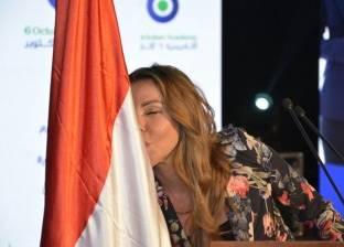 """رزان مغربي تهنئ محمد صلاح: """"رفعت راسنا يا ابن مصر"""""""