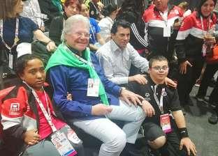 """حسين فهمي يلتقي ملك البحرين على هامش افتتاح دورة """"الألعاب العالمية"""""""