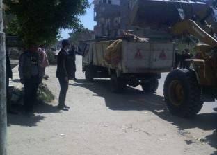 حملة لإزالة الإشغالات بحي المنتزه أول بالإسكندرية
