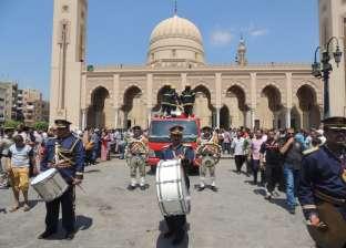 جنازة عسكرية لشهيدى الشرطة بمسجد السيد البدوى فى طنطا