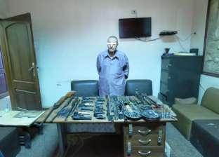 ضبط صاحب ورشة حدادة بتهمة تصنيع وإصلاح الأسلحة النارية غير المرخصة
