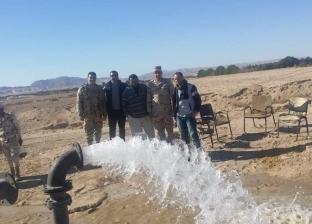 بث تجريبي لتشغيل إحدى آبار مياه منطقة سهل القاع بمدينة الطور