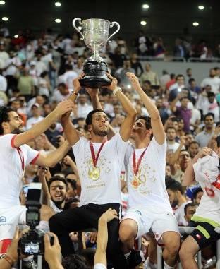 فرحة لاعبي الزمالك بكأس مصر
