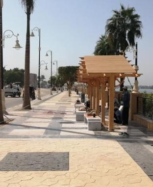 كورنيش الأقصر مقصد للسياح والعرائس بعد تطويره