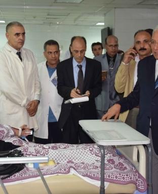 محافظ الدقهلية يتفقد مستشفى تمى الأمديد ويفتتح وحدة عناية الأطفال