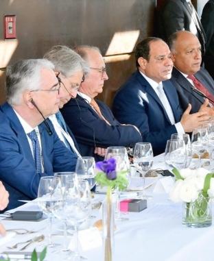 إدارة مؤتمر ميونخ تنظم غداء عمل على شرف الرئيس السيسي