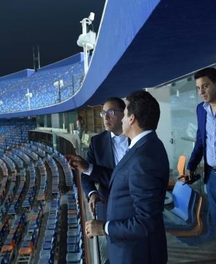 زيارة ليلية لرئيس الوزراء لاستاد القاهرة لمتابعة ترتيبات بطولة أفريقيا