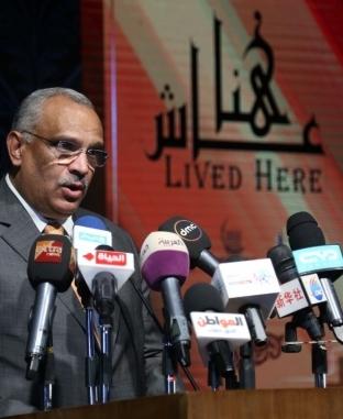 """إيناس عبدالدايم تفتتح مشروع """"عاش هنا"""" وتكرم اسم الراحل علي أبو شادي"""