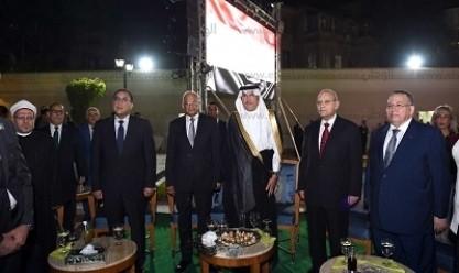 """""""مدبولي"""" ورئيس مجلس النواب في احتفال السفارة السعودية بالعيد الوطني للمملكة"""