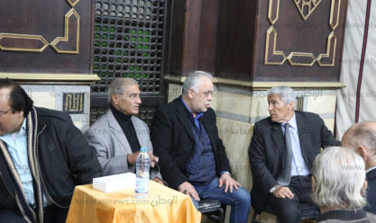 عزاء الفنان جلال عيسى في مسجد المحروسة بالمهندسين