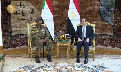 السيسي والبرهان يتوافقان على أولوية دعم الإرادة الحرة للشعب السوداني