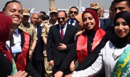 """افتتاح محور روض الفرج وكوبري """"تحيا مصر"""" الملجم"""