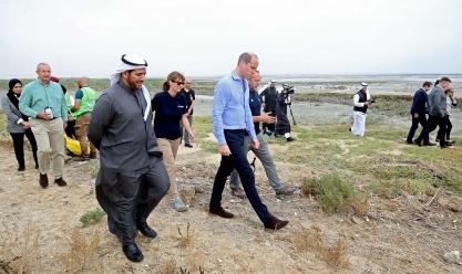 الأمير ويليام يزور محمية الجهراء في الكويت