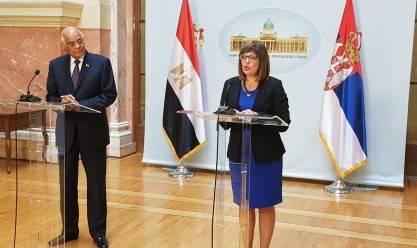عبدالعال بالبرلمان الصربي:على الدولتين إعادة خط الطيران المباشر بينهما