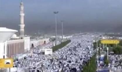 بالفيديو| استقرار مليوني حاج على جبل عرفات