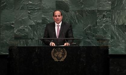 """""""الرئاسة"""": السيسي يتوجه إلى نيويورك للمشاركة باجتماعات الأمم المتحدة"""