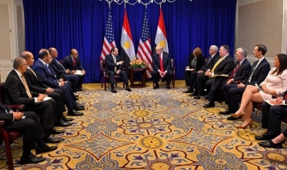 ترامب: أمريكا تعمل مع مصر في العديد من الجبهات وخصوصا التجارية
