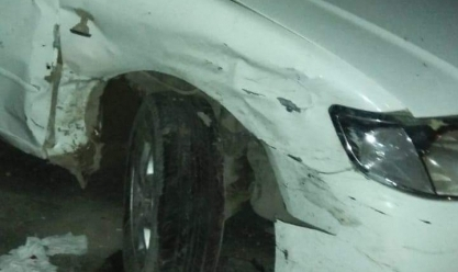 عاجل  تصادم9 سيارات بنزلة كوبري الألمان بأبيس شرق الإسكندرية