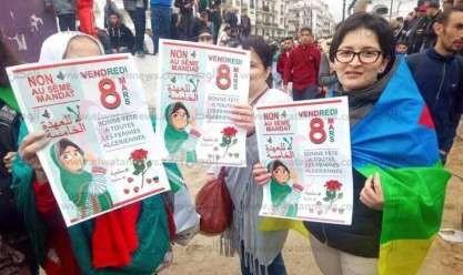 مشاركة نسائية واسعة في احتجاجات الجزائر