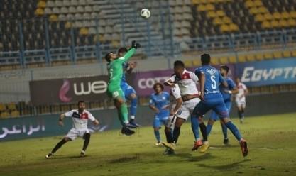 لقطات من مباراة الزمالك والنجوم في الدوري