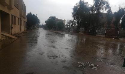 هطول أمطار غزيرة في بني سويف