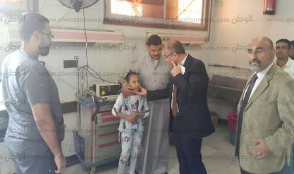 رئيس جامعة الزقازيق يتفقد المستشفيات الجامعية