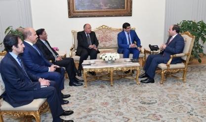 السيسي لمبعوث الرئيس الموريتاني: دعم مصر مستمر لمواجهة الإرهاب