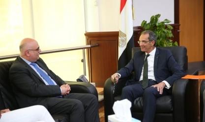 طلعت يبحث مع البنك الدولي زيادة انتشار الإنترنت فائق السرعة في مصر