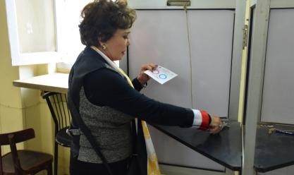 """بـ""""الأعلام والسيلفي"""".. الفنانون يشاركون في استفتاء التعديلات الدستورية"""