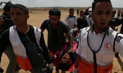 عاجل  52 مصابًا برصاص الاحتلال على حدود غزة