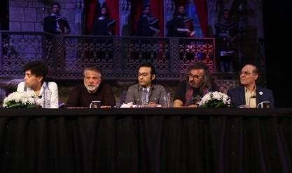 """المؤتمر الصحفي لمسرحية """"الملك لير"""" بحضور الفخراني والفيشاوي"""