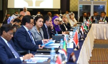 غادة والي تحضر الاجتماع المشترك لمجلسي وزراء الشؤون الاجتماعية العرب