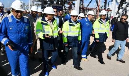 وزير البترول خلال جولة في حقلي الفيوم وجيزة
