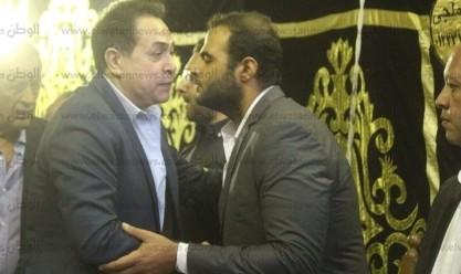 عزاء ابنة الفنانة عقيلة راتب في مسجد عمر مكرم