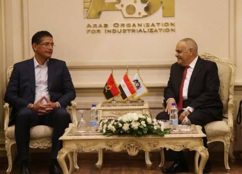 """رئيس """"العربية للتصنيع"""" يستقبل وفدا إفريقيا برئاسة وزير كهرباء أنجولا"""