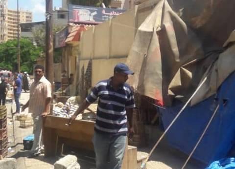 """""""حي شرق"""" يشن حملة مكبرة لإزالة التعديات على الطريق بالإسكندرية"""