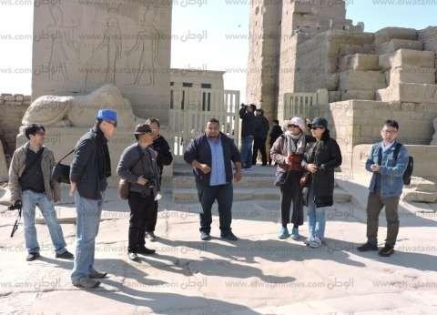 460 سائحا أجنبيا زاروا معبد دندرة بقنا
