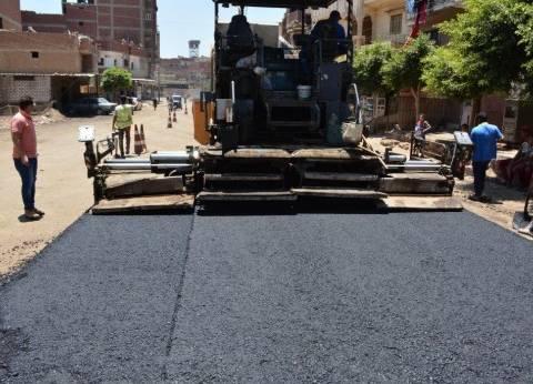 محافظ الغربية يتابع رصف شوارع في طنطا بتكلفة 23 مليون جنيه