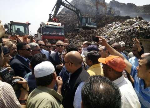 وزير التنمية المحلية يتفقد عمليات نقل مقلب أبو خريطة بشبين الكوم