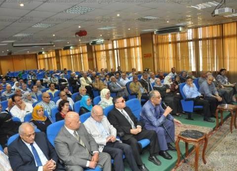 رئيس جامعة المنصورة يجتمع بأعضاء هيئة التدريس بكلية العلوم