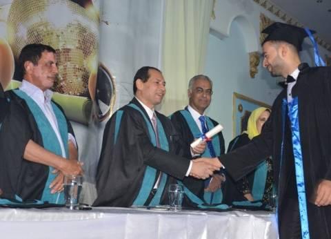 بالصور| رئيس جامعة بورسعيد يشهد احتفالية تخرج طلاب كلية التجارة