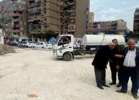 رئيس حي العجوزة يتفقد تعديل شارع أحمد عرابى المروري
