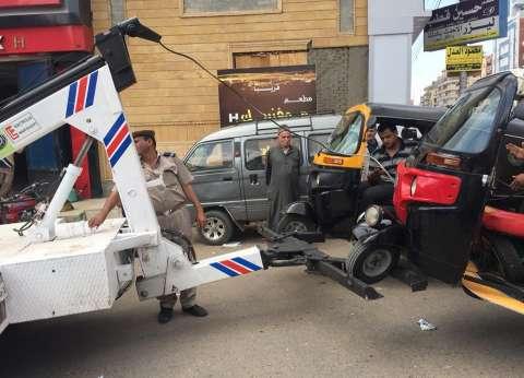 رفع 50 سيارة ودراجة نارية متروكة في الشوارع والطرق الرئيسية بالقاهرة
