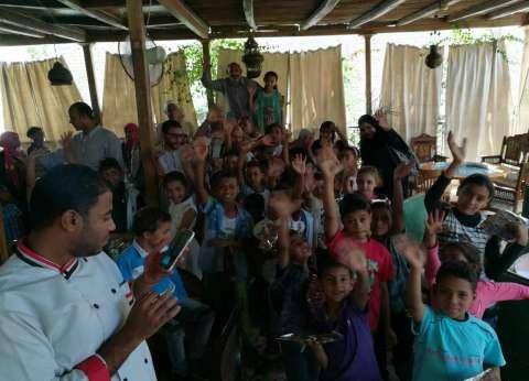 """""""تنمية المجتمع"""" بالبعيرات تحتفل بـ""""يوم اليتيم"""" بمشاركة 60 طفلا"""