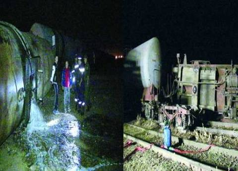 عاجل| انقلاب قطار فى بني سويف وأنباء عن إصابات