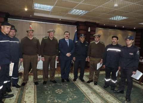 بالصور|مدير أمن الدقهلية يكرم 6 من ضباط وأفراد ومجندي الشرطة المتميزين