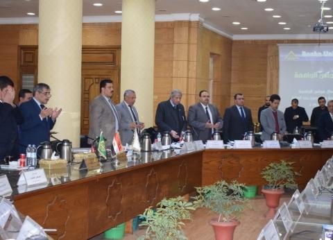 مجلس جامعة بنها يبدأ جلسته بالوقوف دقيقة حداد على أرواح ضحايا محطة مصر