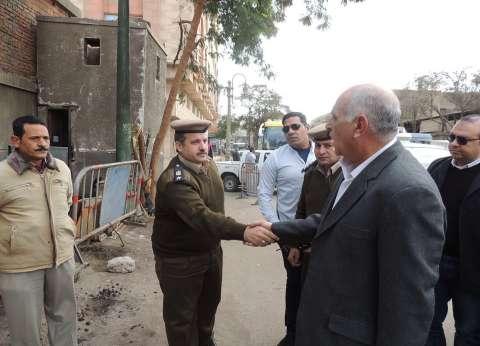 مدير أمن المنيا يفاجئ الخدمات المعينة علي الكنائس بجولات ميدانية